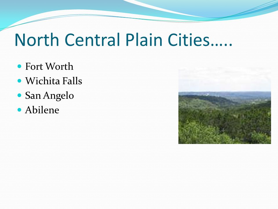 North Central Plain Cities…..