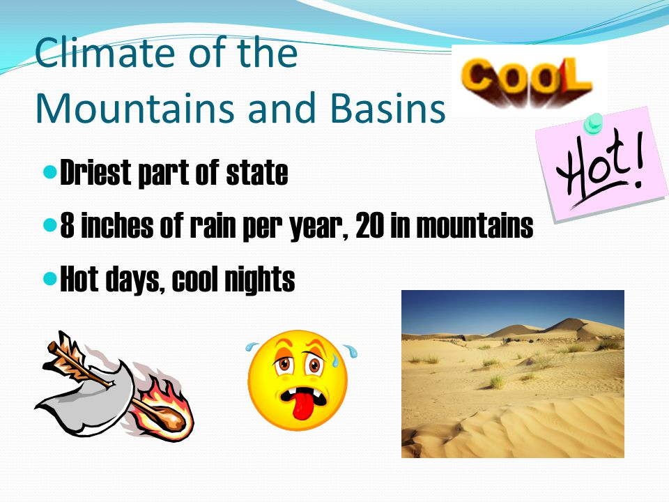 Climate of the Mountains and Basins