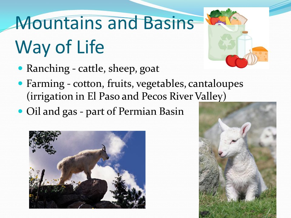 Mountains and Basins Way of Life