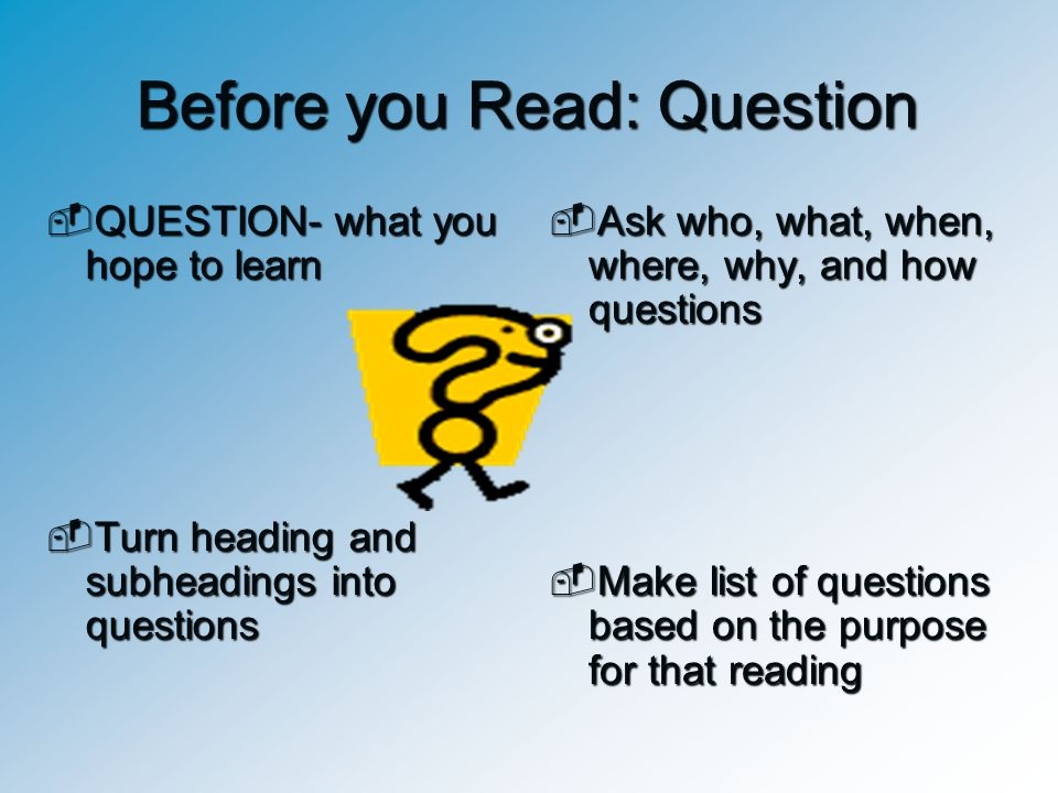 Before you Read: Question