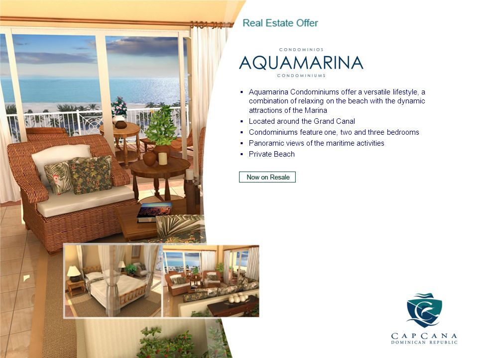 Aquamarina Condominiums offer a versatile lifestyle, a combination of relaxing on the beach with the dynamic attractions of the Marina