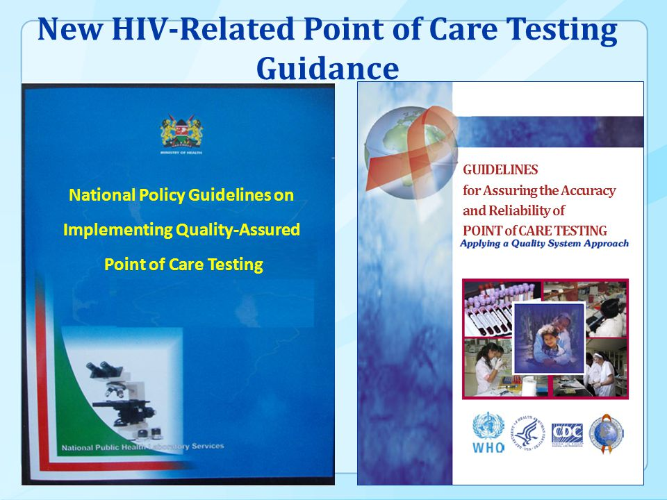 New HIV-Related Point of Care Testing Guidance