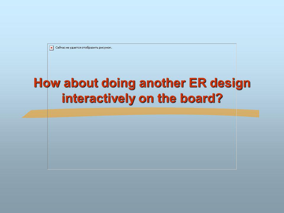 How about doing another ER design interactively on the board