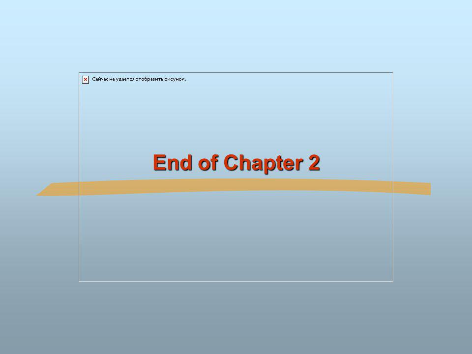 End of Chapter 2