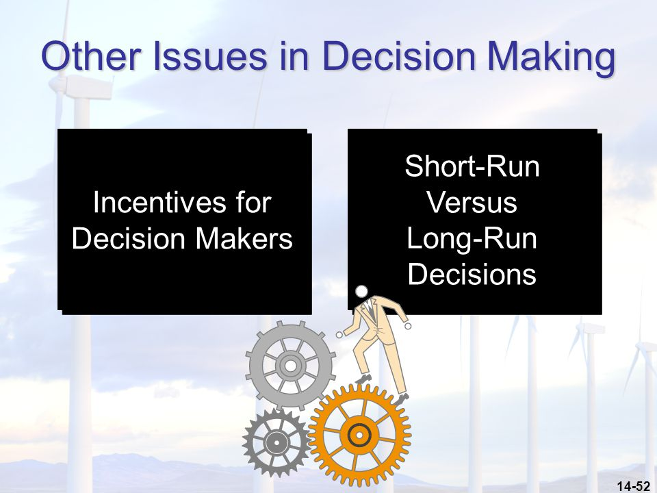 Other Issues in Decision Making
