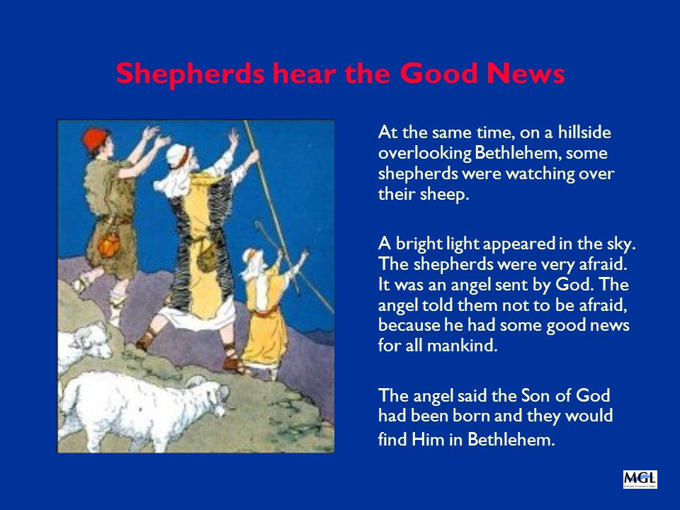 Shepherds hear the Good News