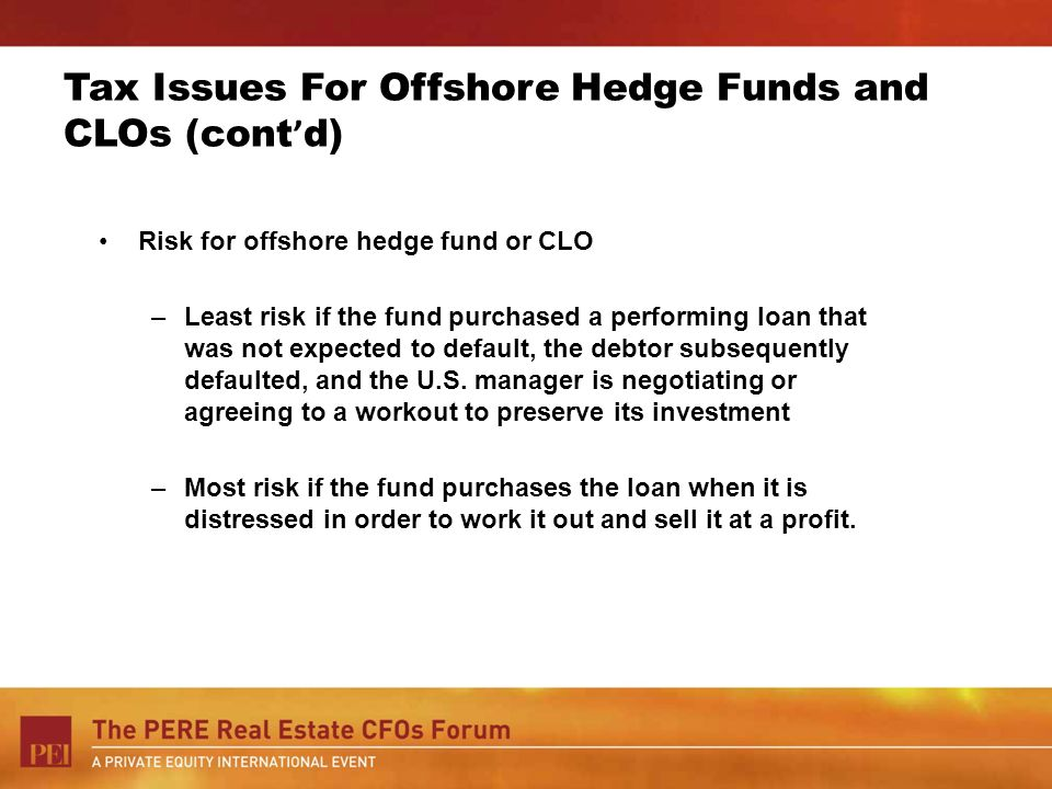 Tax Issues For Offshore Hedge Funds and CLOs (cont'd)