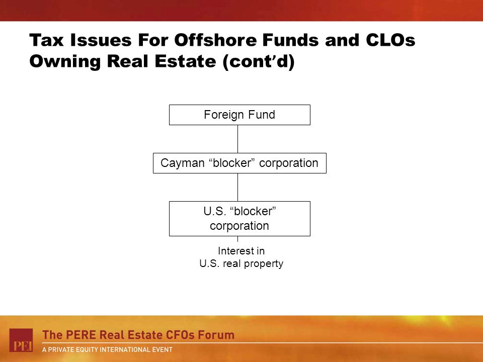 Tax Issues For Offshore Funds and CLOs Owning Real Estate (cont'd)
