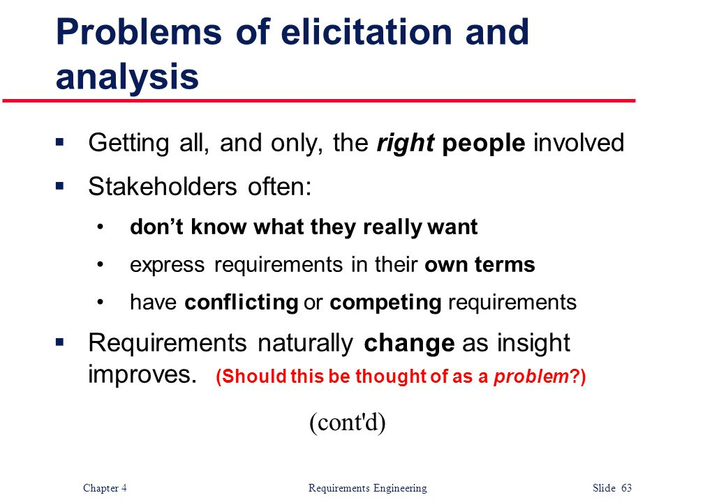 Problems of elicitation and analysis