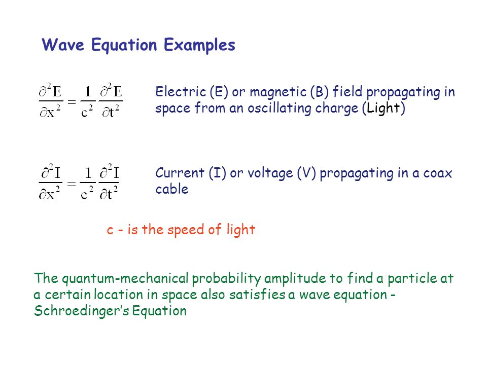 Wave Equation Examples