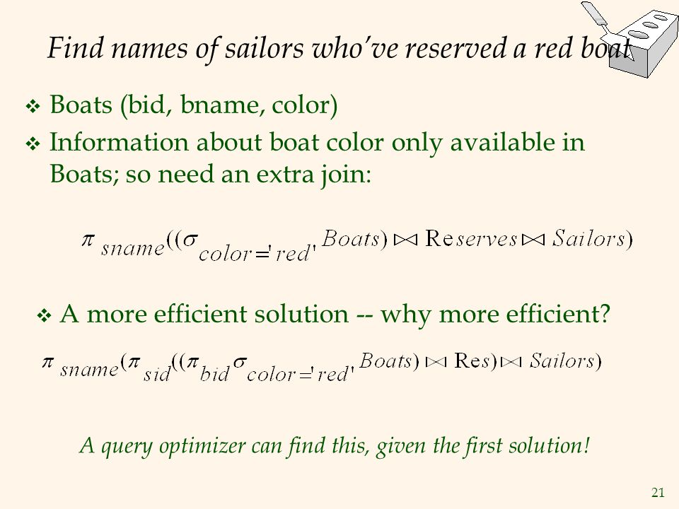 Find names of sailors who've reserved a red boat