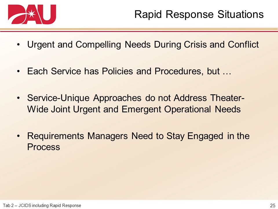 Rapid Response Situations