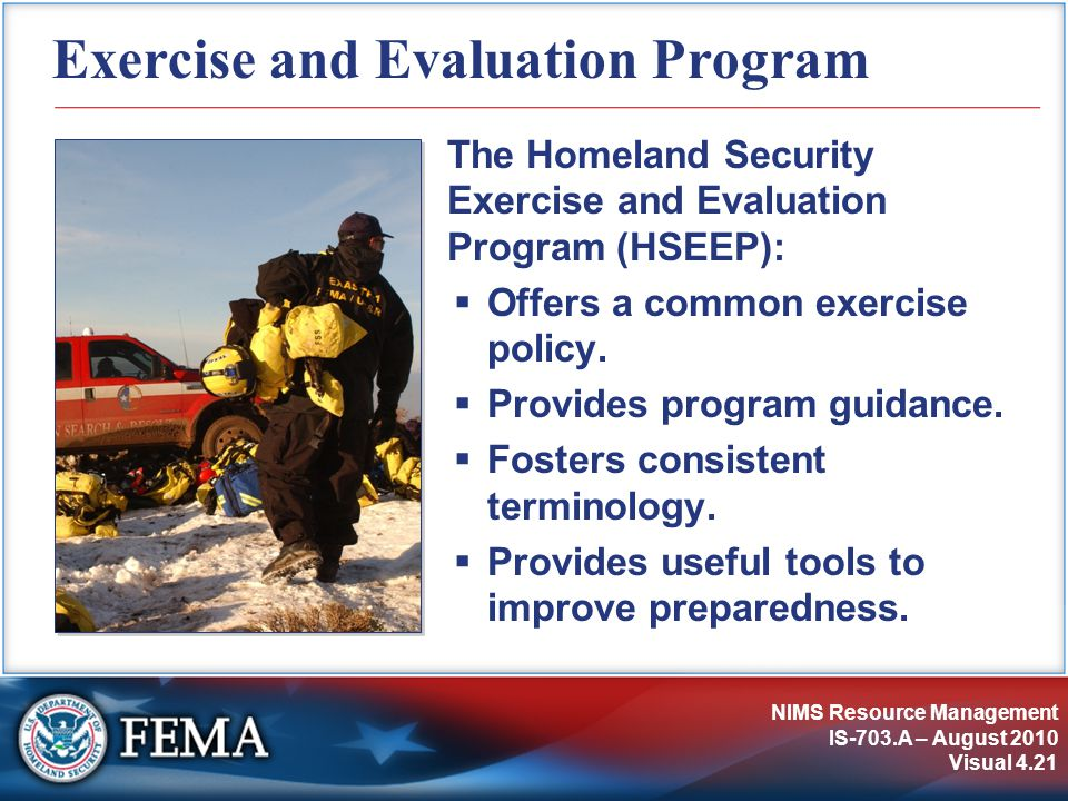 Exercise and Evaluation Program