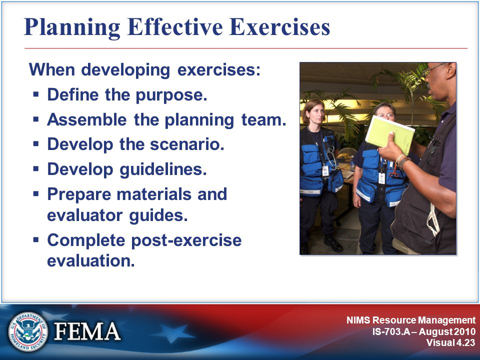 Planning Effective Exercises