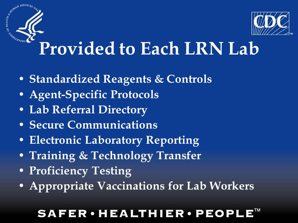 Provided to Each LRN Lab