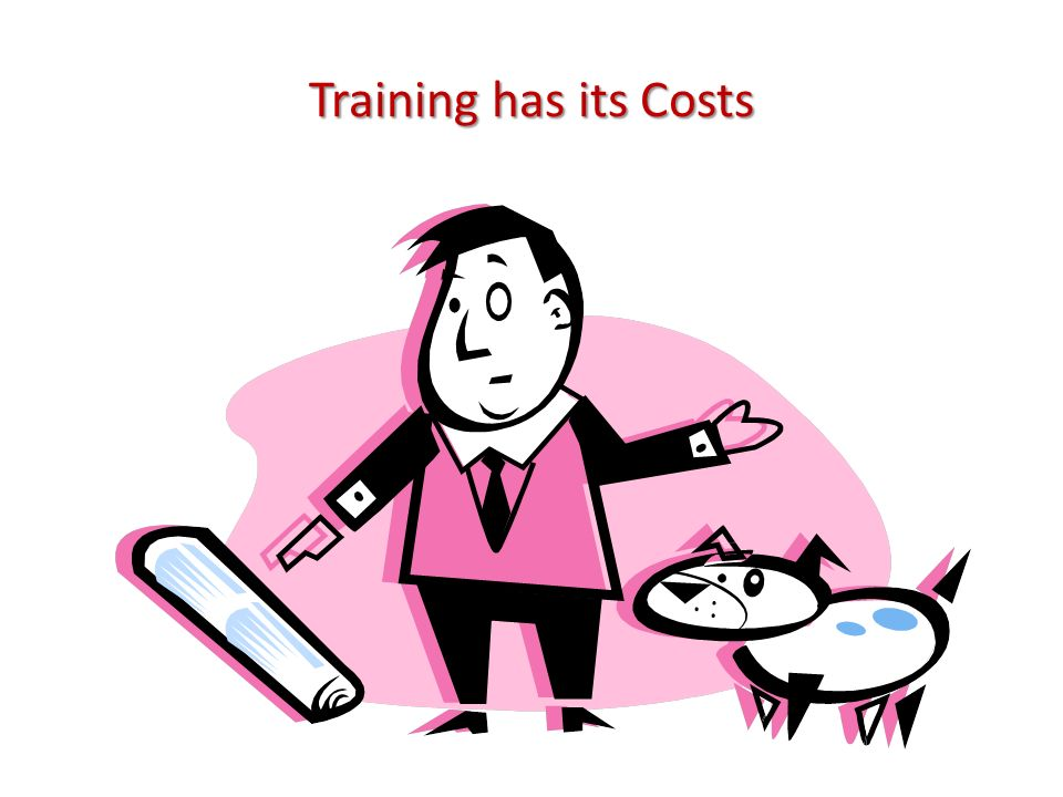 Training has its Costs