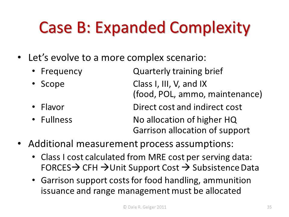 Case B: Expanded Complexity