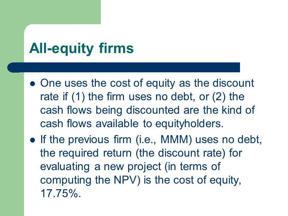 All-equity firms