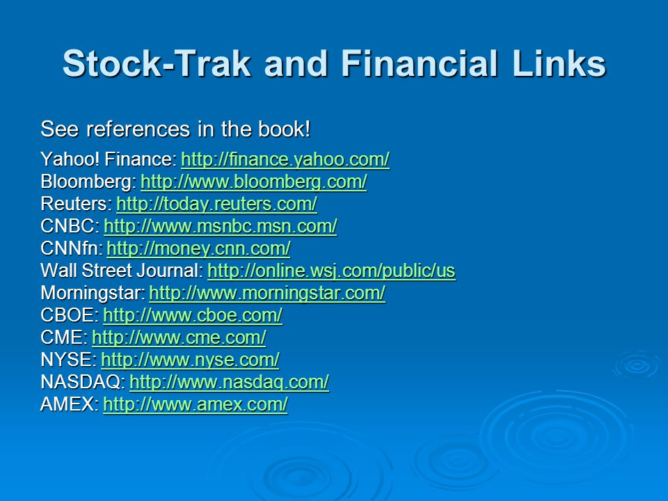 Stock-Trak and Financial Links
