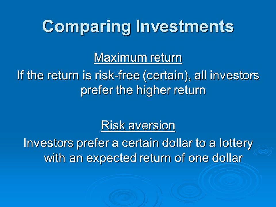 Comparing Investments