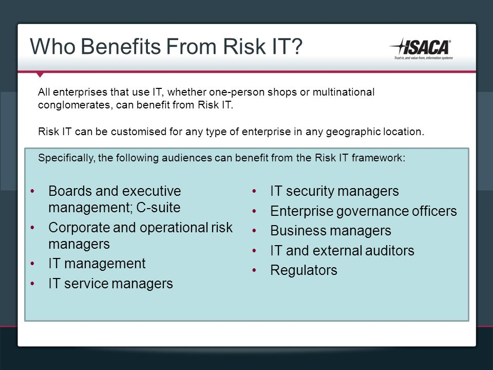 Who Benefits From Risk IT