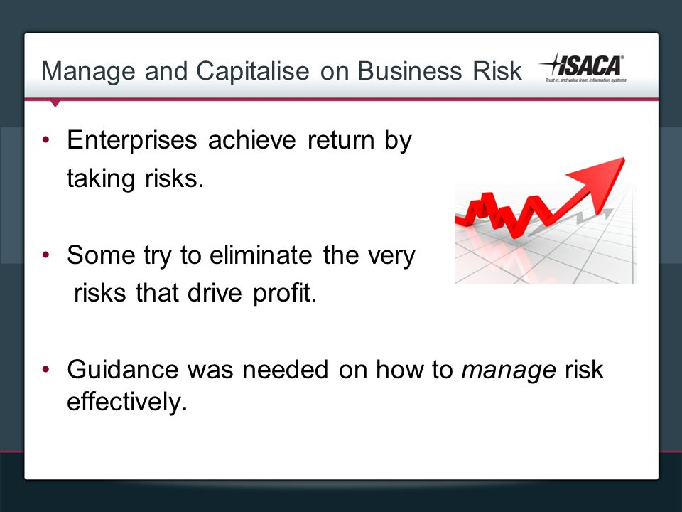 Manage and Capitalise on Business Risk