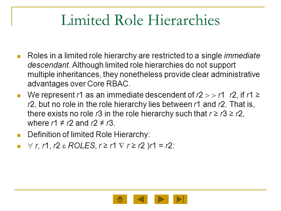 Limited Role Hierarchies