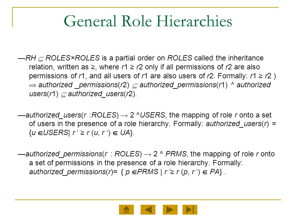 General Role Hierarchies