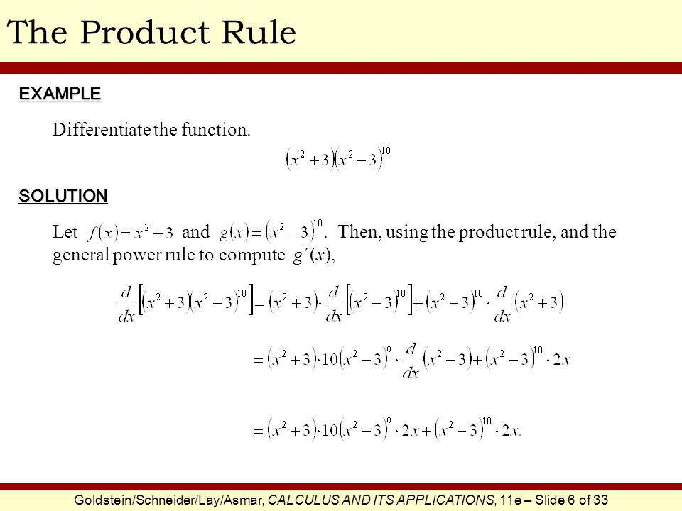 The Product Rule Differentiate the function.