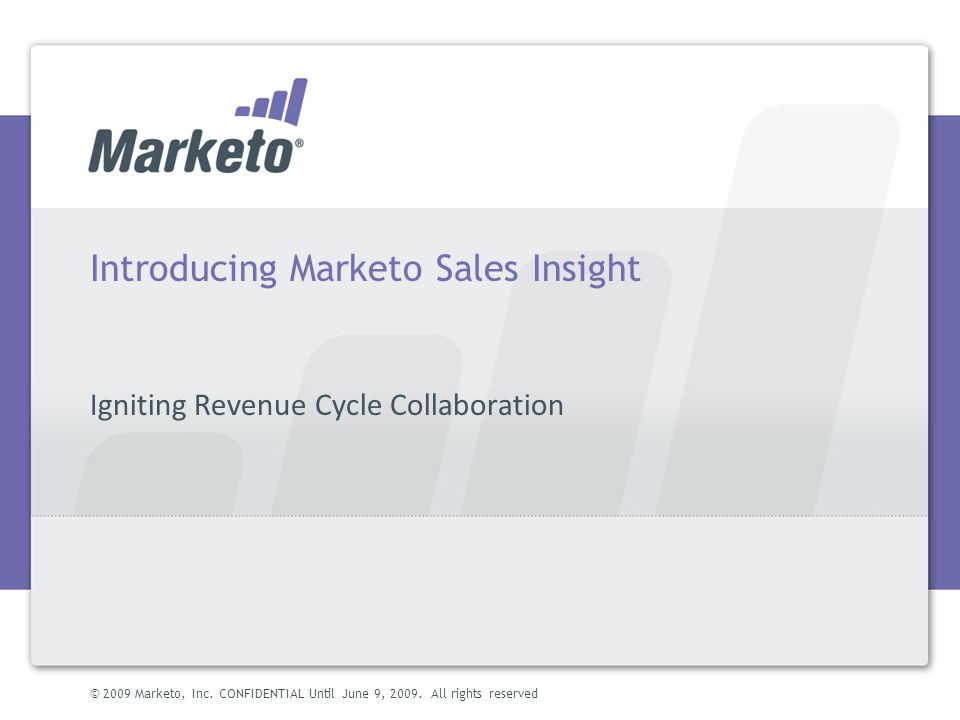 Introducing Marketo Sales Insight