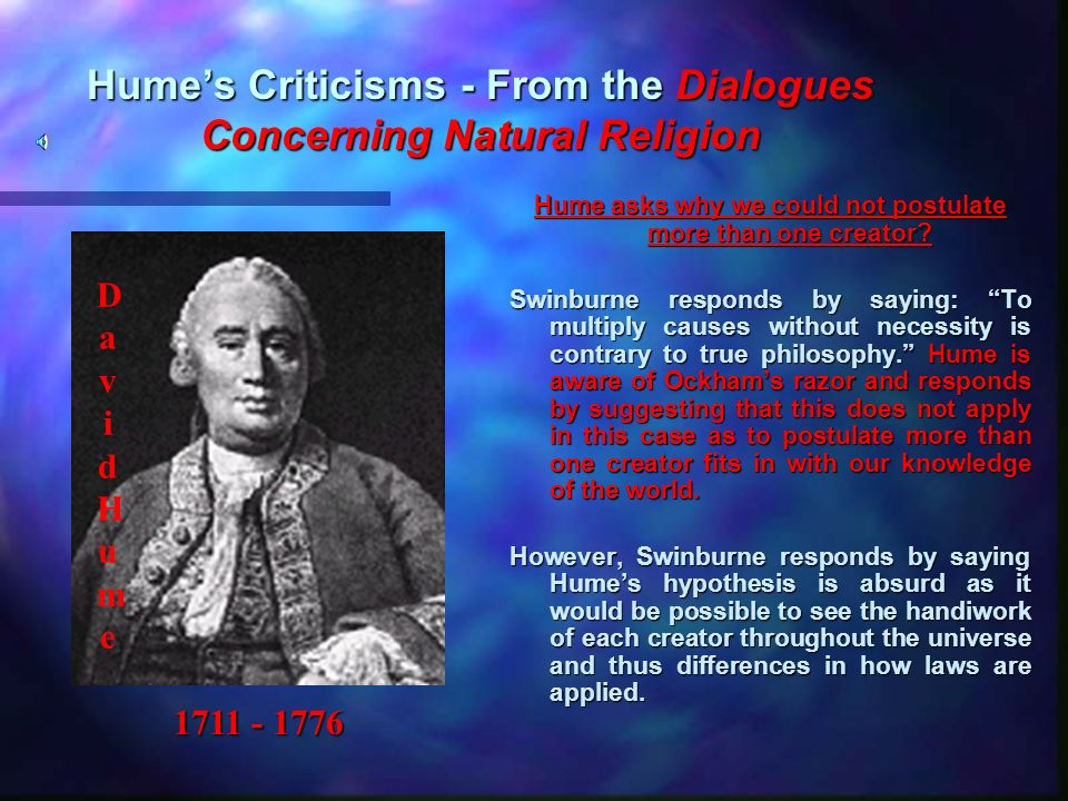 Hume's Criticisms - From the Dialogues Concerning Natural Religion