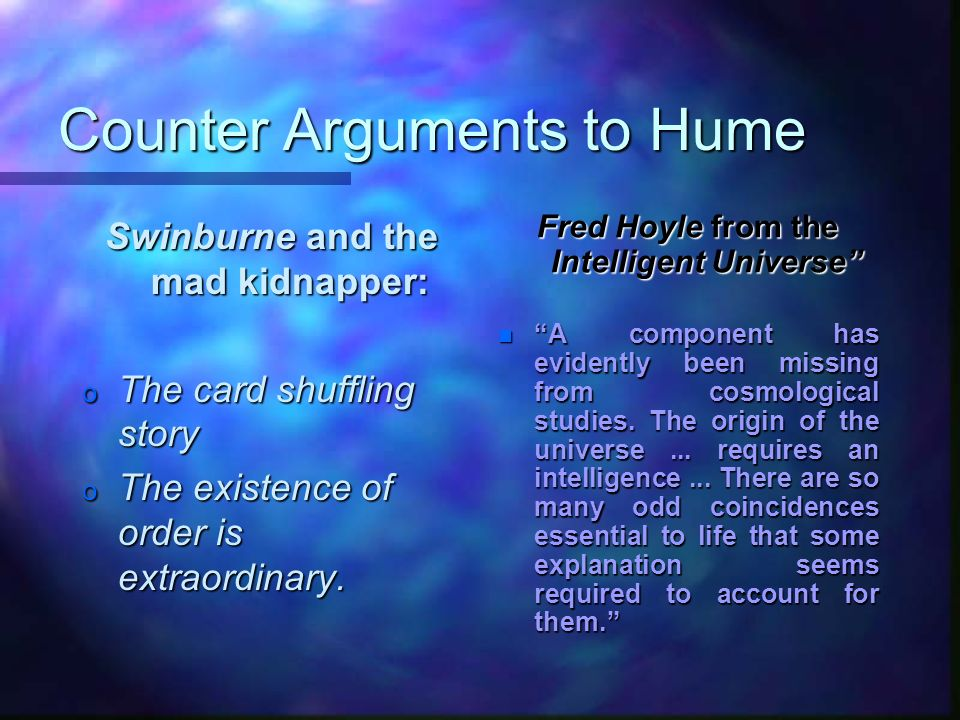 Counter Arguments to Hume