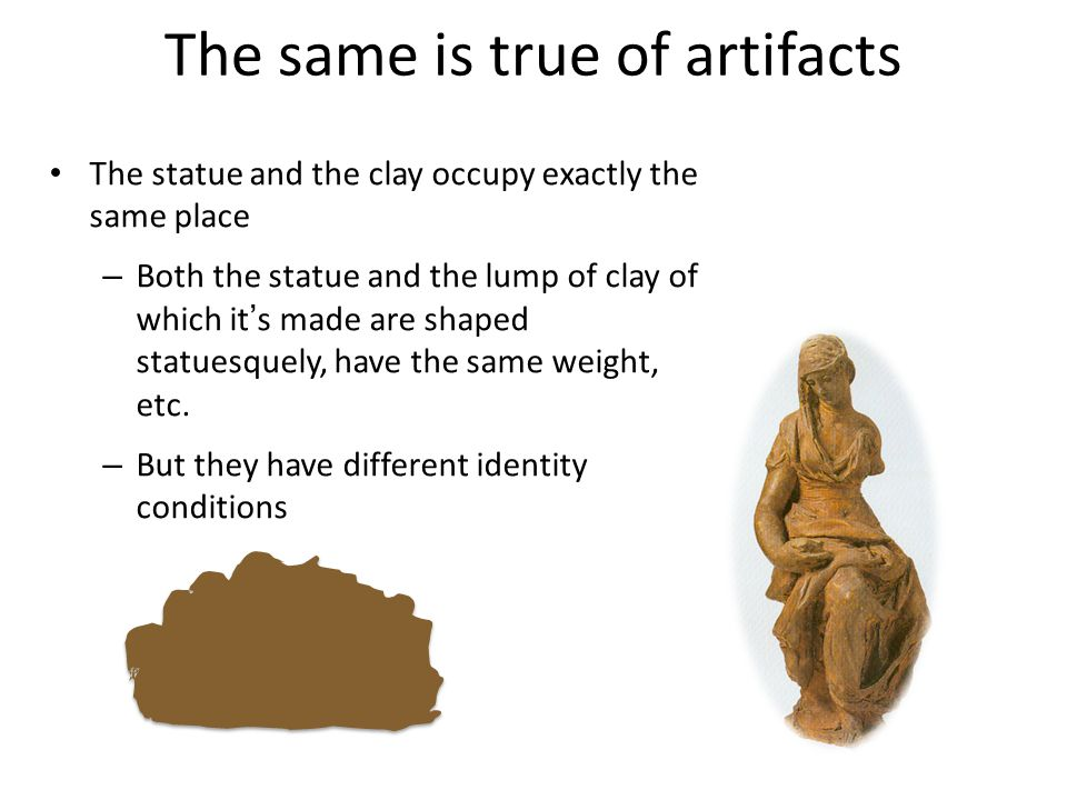 The same is true of artifacts