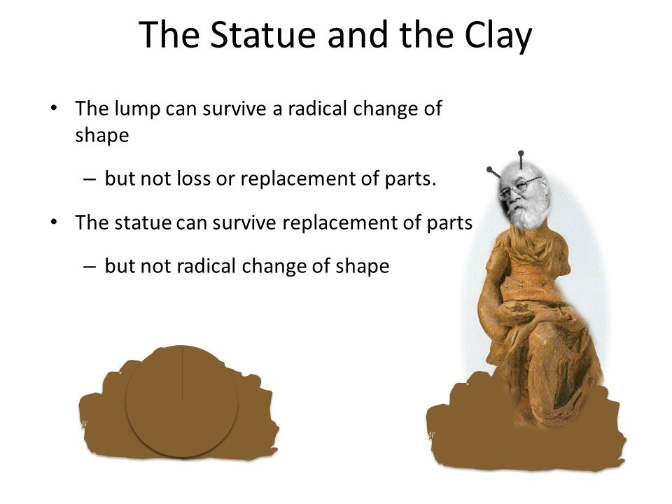 The Statue and the Clay The lump can survive a radical change of shape