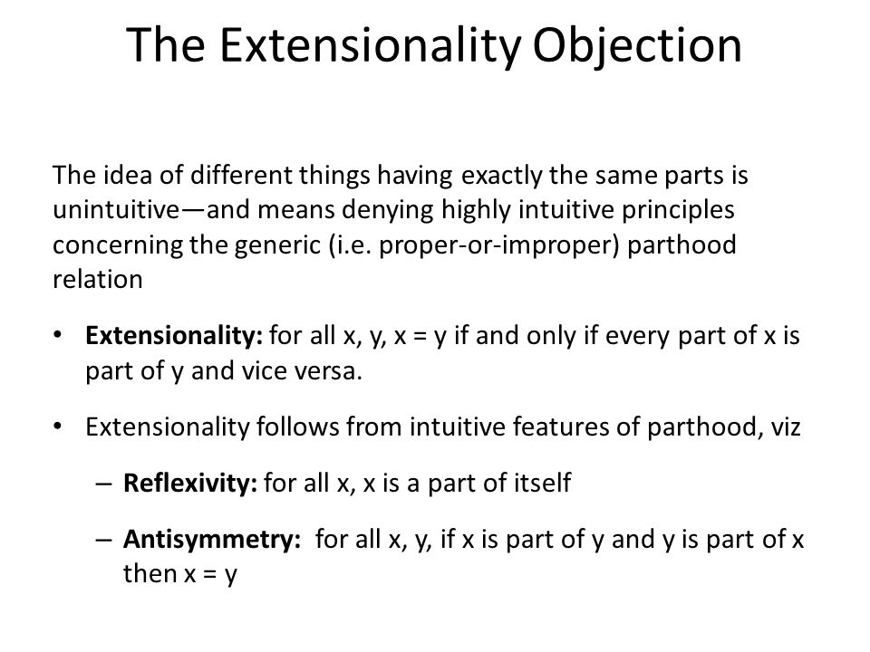 The Extensionality Objection