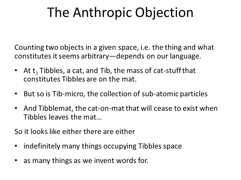 The Anthropic Objection