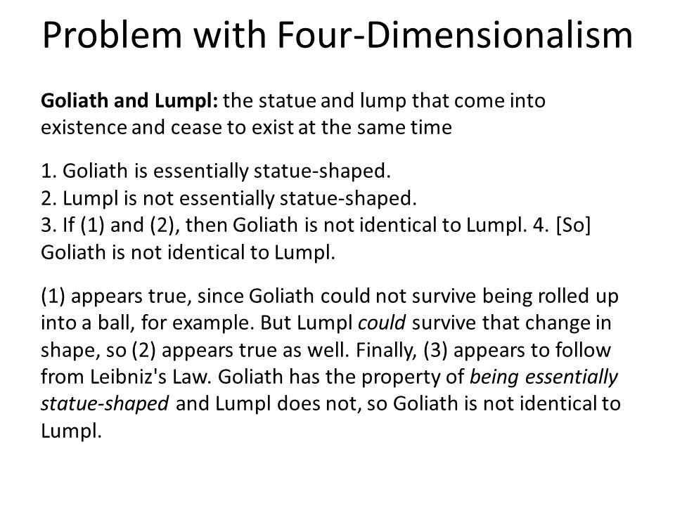 Problem with Four-Dimensionalism