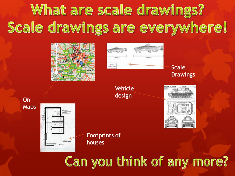 What are scale drawings Scale drawings are everywhere!