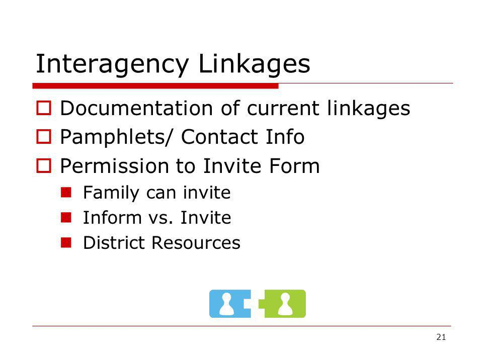 Interagency Linkages Documentation of current linkages