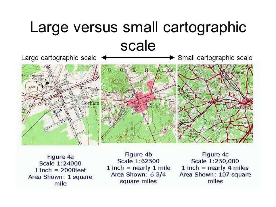 Large versus small cartographic scale