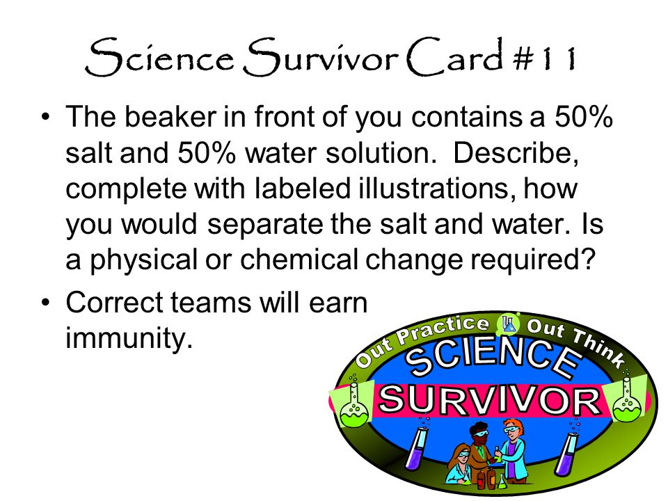 Science Survivor Card #11