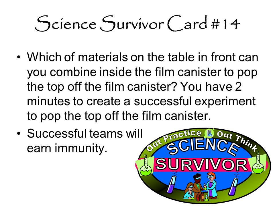 Science Survivor Card #14