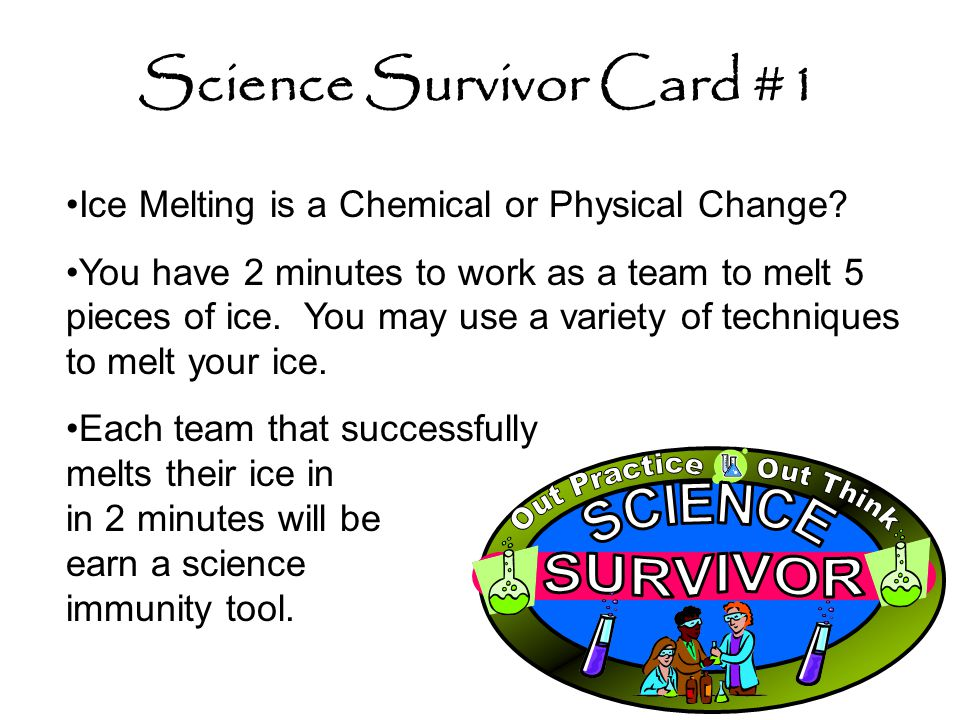Science Survivor Card #1