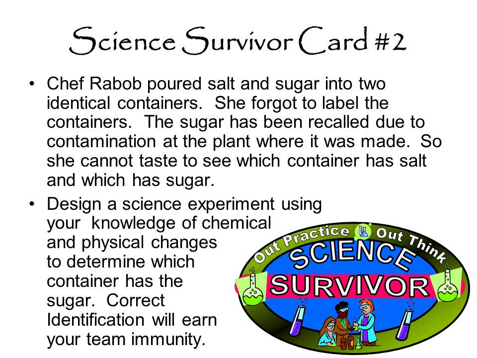 Science Survivor Card #2