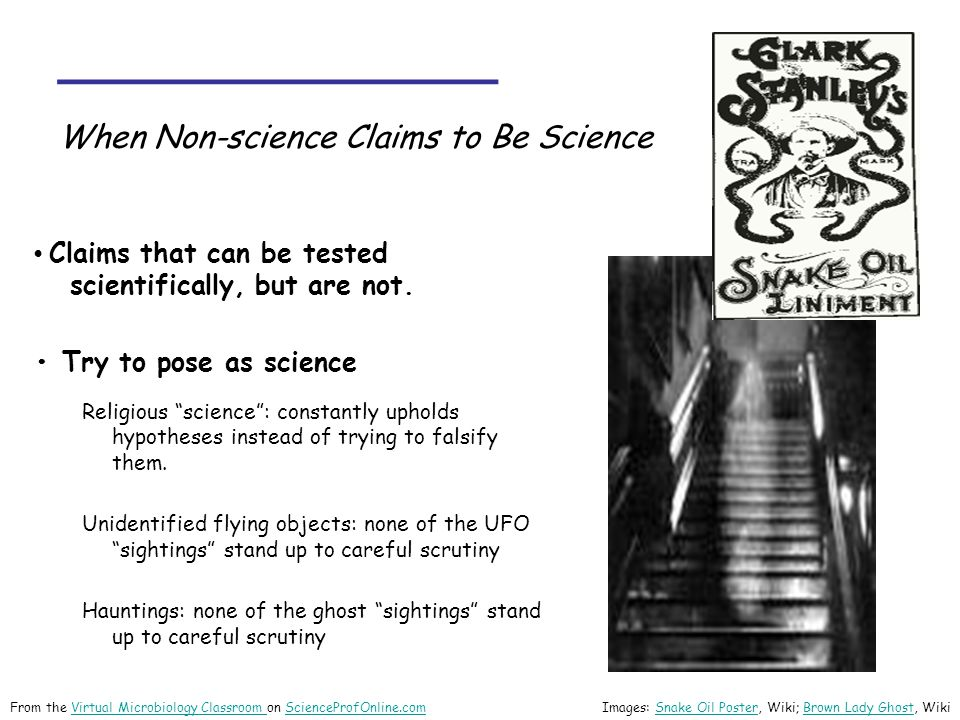 _______________ When Non-science Claims to Be Science