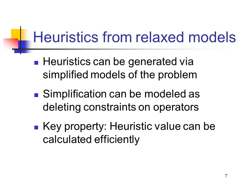 Heuristics from relaxed models
