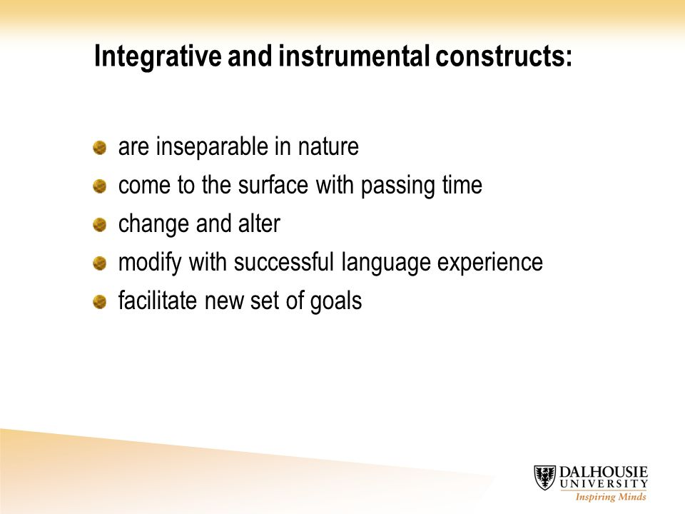 Integrative and instrumental constructs: