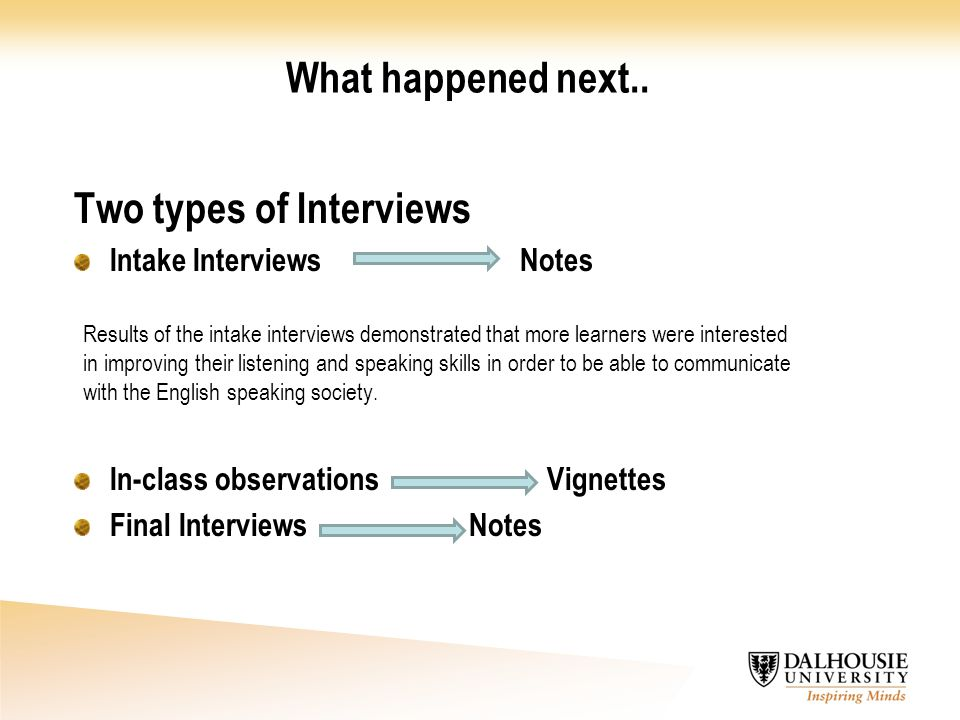 Two types of Interviews
