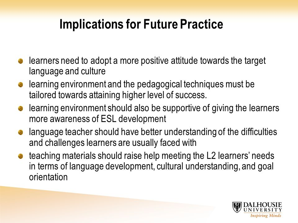 Implications for Future Practice