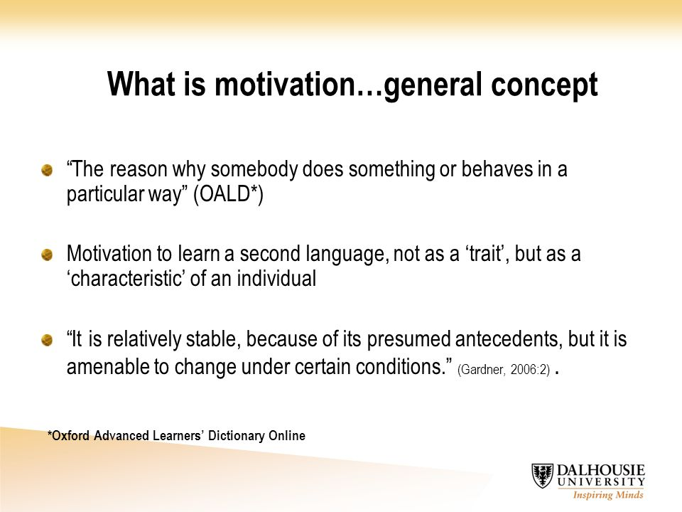 What is motivation…general concept